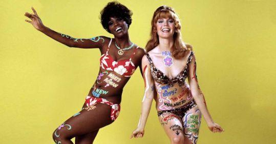 ROWAN AND MARTIN'S LAUGH-IN,  Teresa Graves, Pamela Rodgers, 1969-1970.