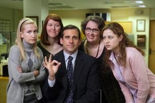 An undated publicity photo shows actors (L-R) Angela Kinsey, Kate Flannery, Steve Carell, Phyllis Smith and Jenna Fischer in a scene from the NBC series 'The Office'. The show received 9 Primetime Emmy nominations, including an Outstanding Comedy Series nomination, as nominations were announced for the 59th Annual Primetime Emmy Awards show in Los Angeles July 19, 2007. The Emmys will be presented in Los Angeles September 16, 2007. (Paul Drinkwater, Reuters, NBC, Newscom) (UNITED STATES). EDITORIAL USE ONLY. NO ARCHIVES.