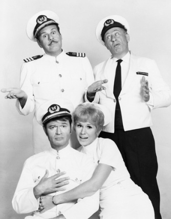 """The Queen and I"" Larry Storch, Carl Ballantine, Barbara Stuart 1969 Photo by Gabi Rona"