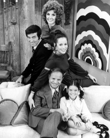 THE DON RICKLES SHOW, center right: Louise Sorel, bottom from left: Don Rickles, Erin Moran, 1972.