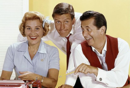 No Merchandising. Editorial Use Only. No Book Cover Usage. Mandatory Credit: Photo by CBS-TV/Kobal/REX/Shutterstock (5880763g) Rose Marie, Dick Van Dyke, Morey Amsterdam The Dick Van Dyke Show - 1961-1966 CBS-TV USA